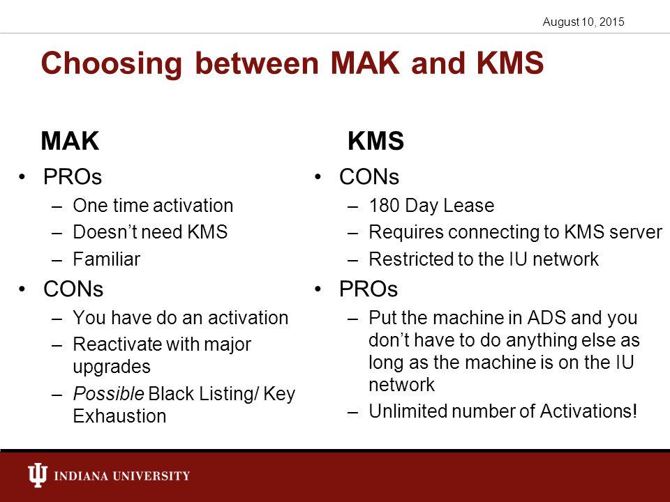mak key or kms