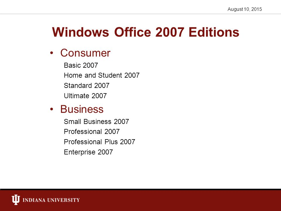 office 2007 enterprise vs professional