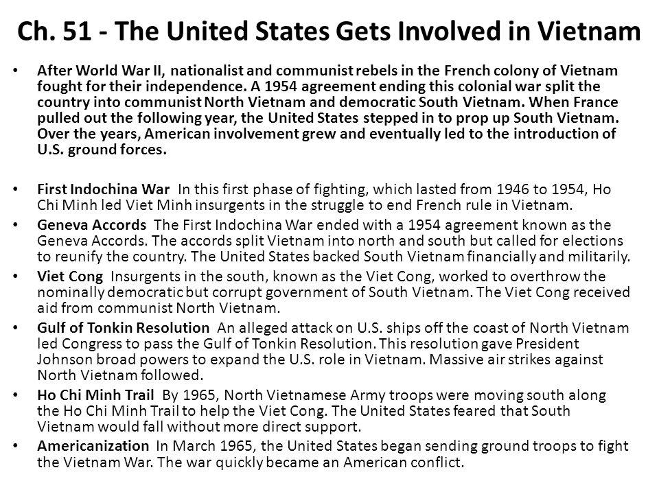 Vietnam War Study Materials Ppt Download