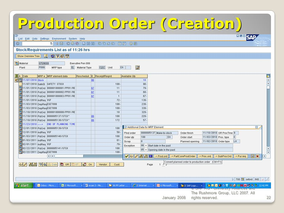Production Order (Creation)