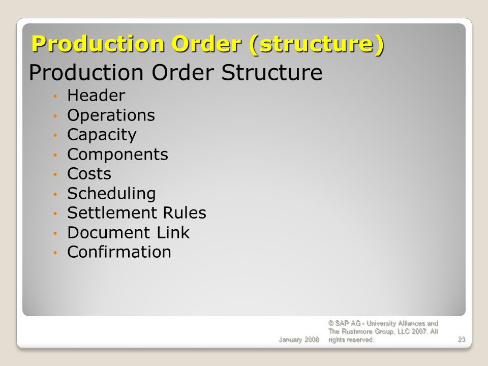 Production Order (structure)