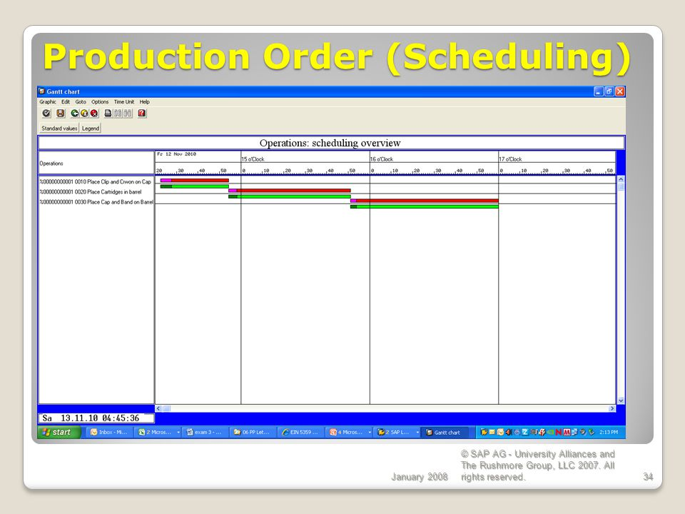 Production Order (Scheduling)