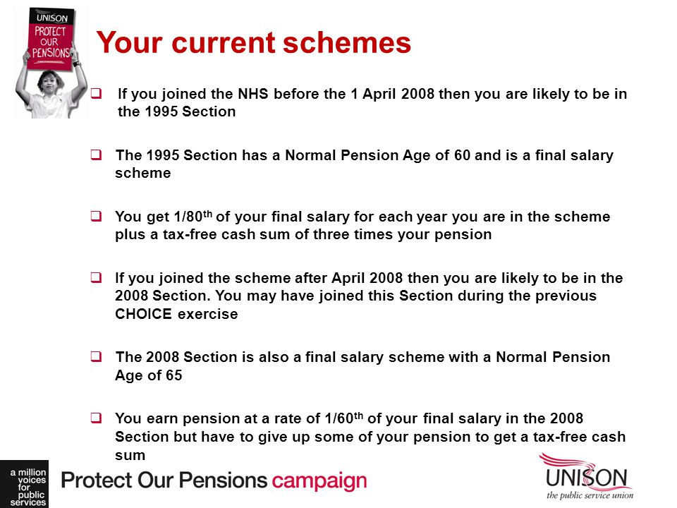 1995 and 2008 scheme nhs employers.