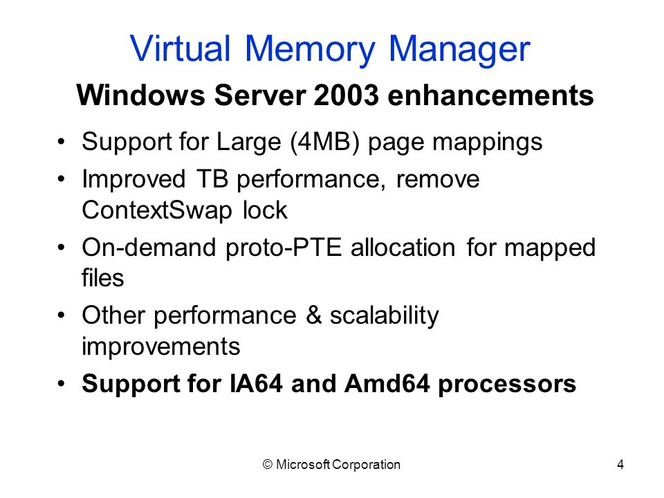 windows virtual memory manager