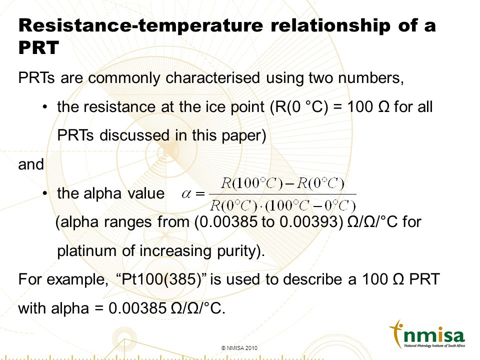 Overview if converting resistance to temperature by hand, remember.