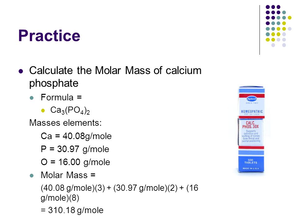 Review molar mass of compounds ppt video online download practice calculate the molar mass of calcium phosphate formula urtaz Gallery