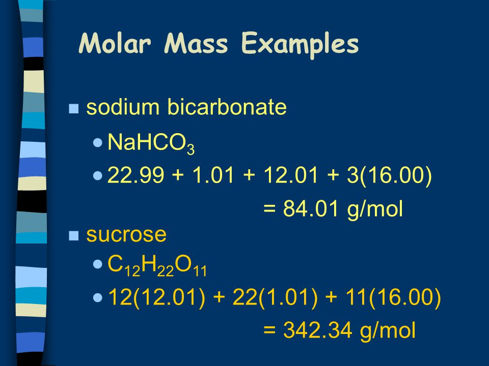 What Is The Mole Molar Mass Ppt Download