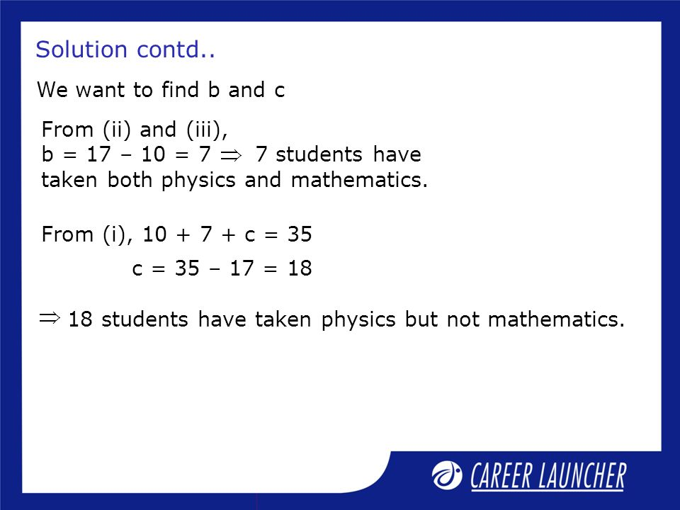 Solution contd.. We want to find b and c