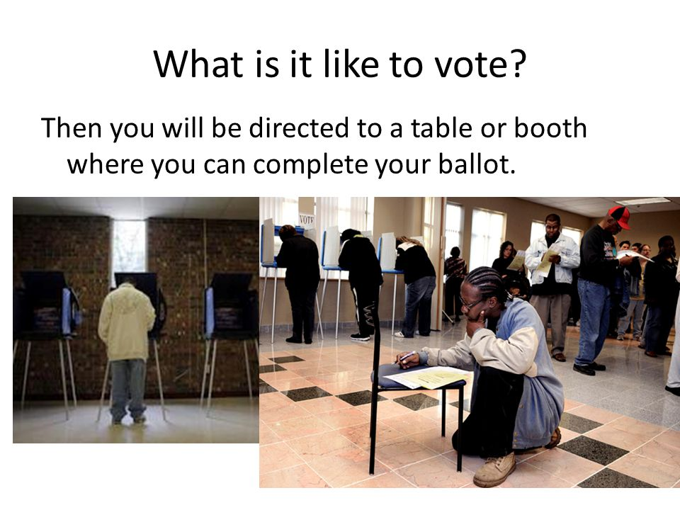 What is it like to vote.