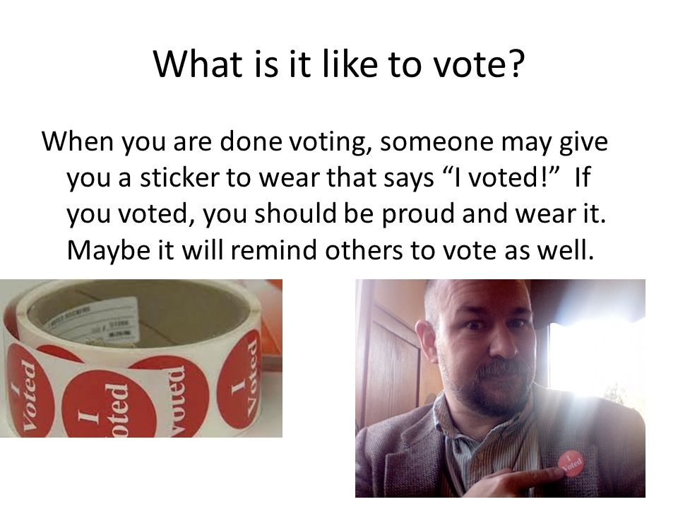 What is it like to vote