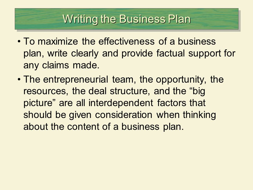 leadership business plan example