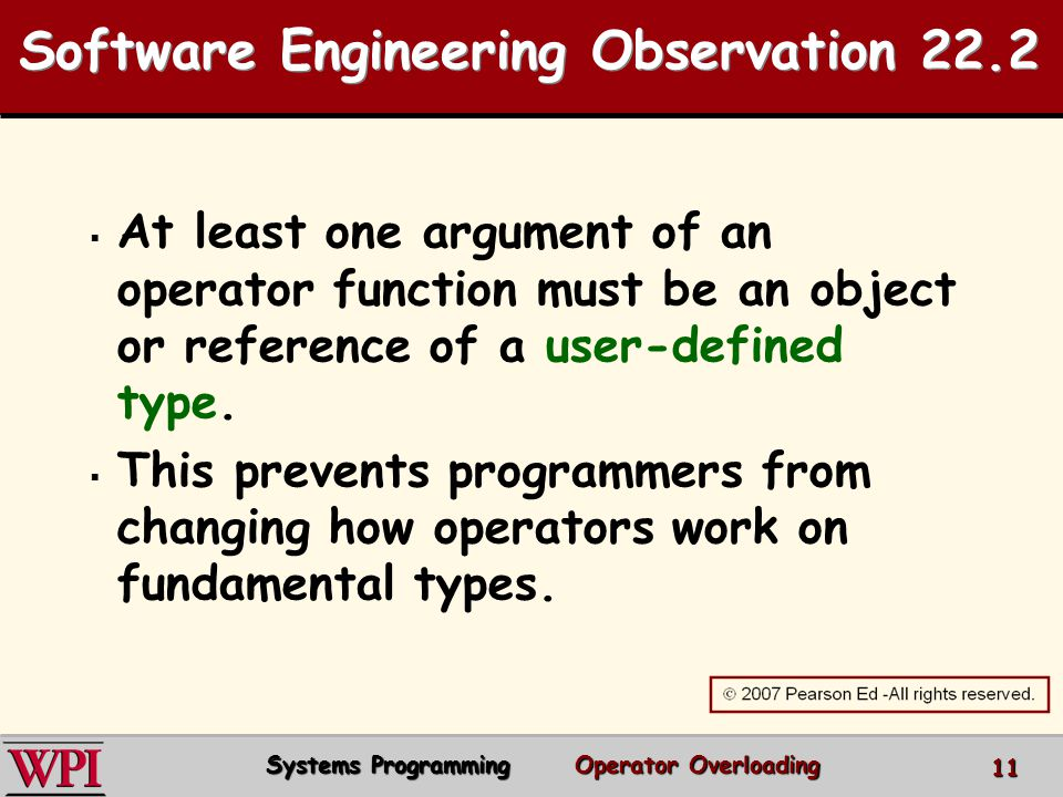 Software Engineering Observation 22.2