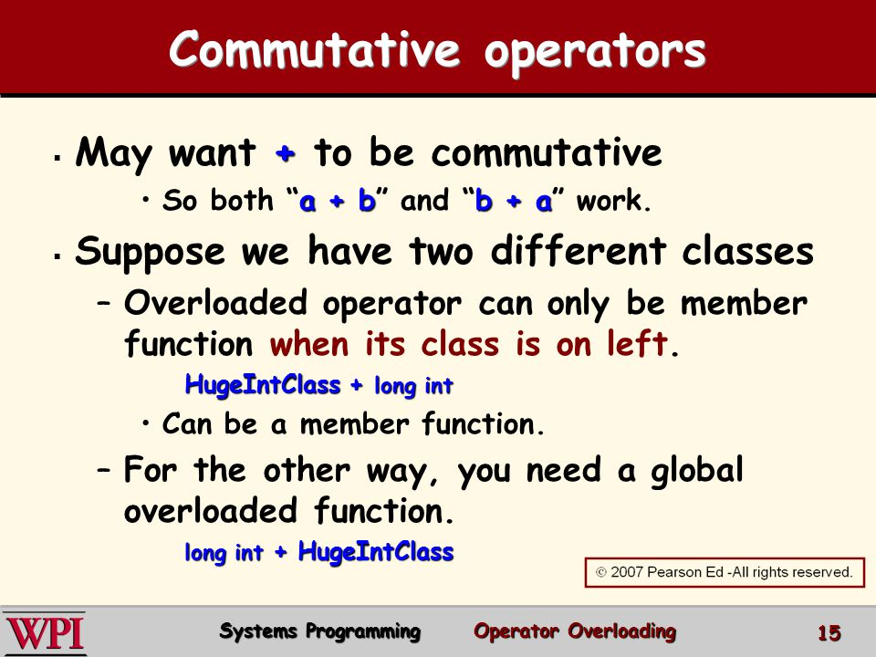 Commutative operators