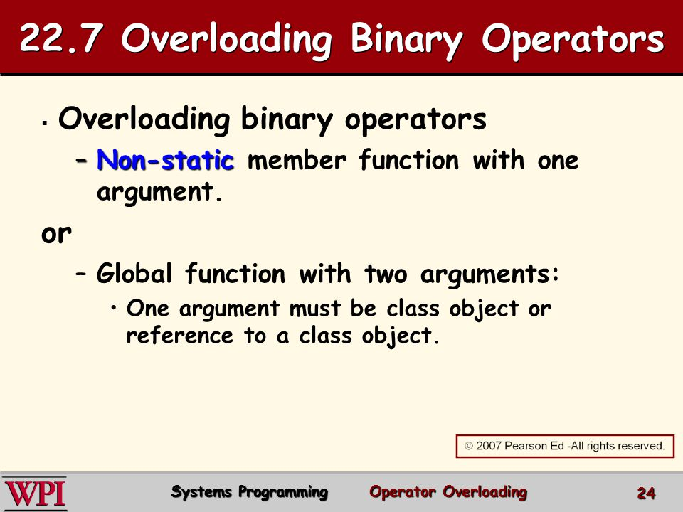 22.7 Overloading Binary Operators