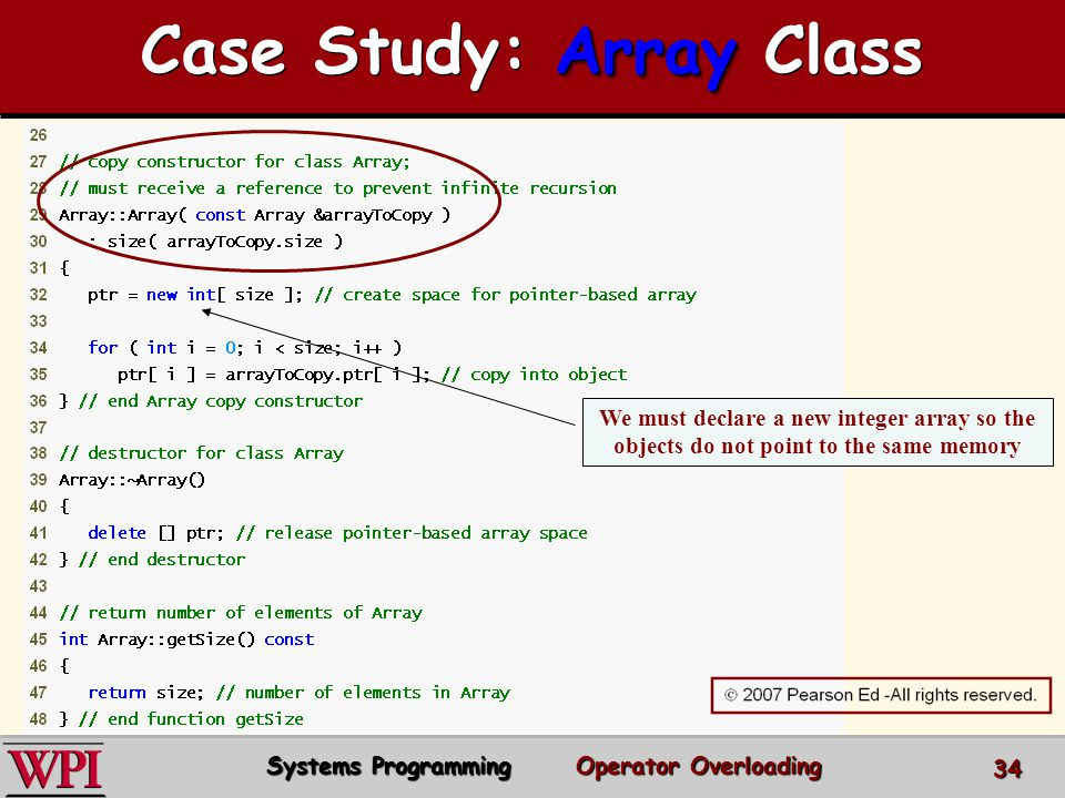 Case Study: Array Class