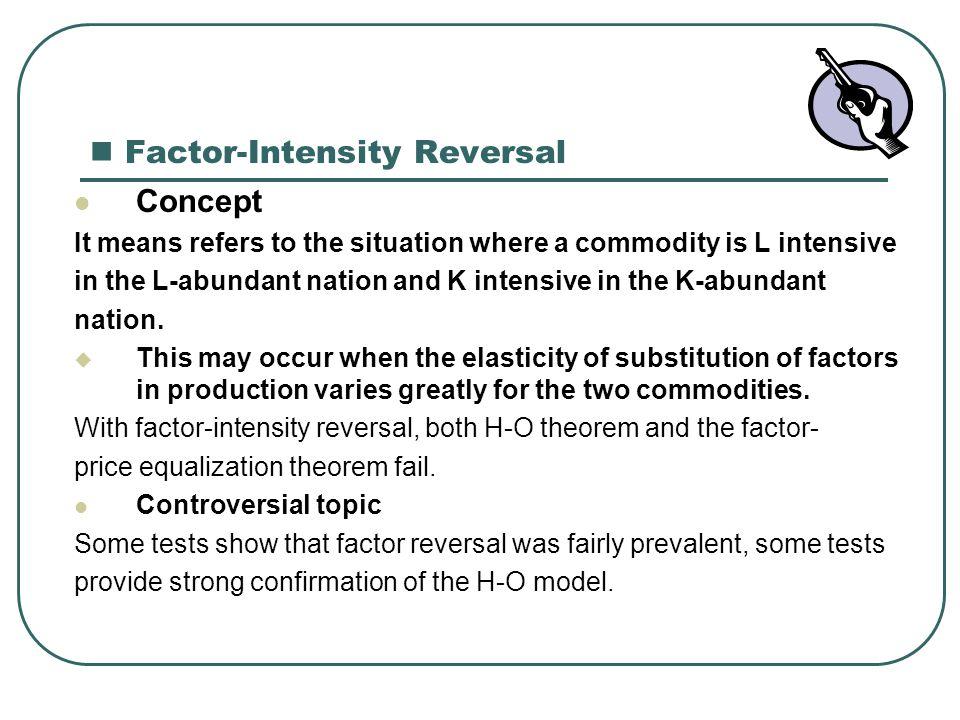 factor intensity reversal definition