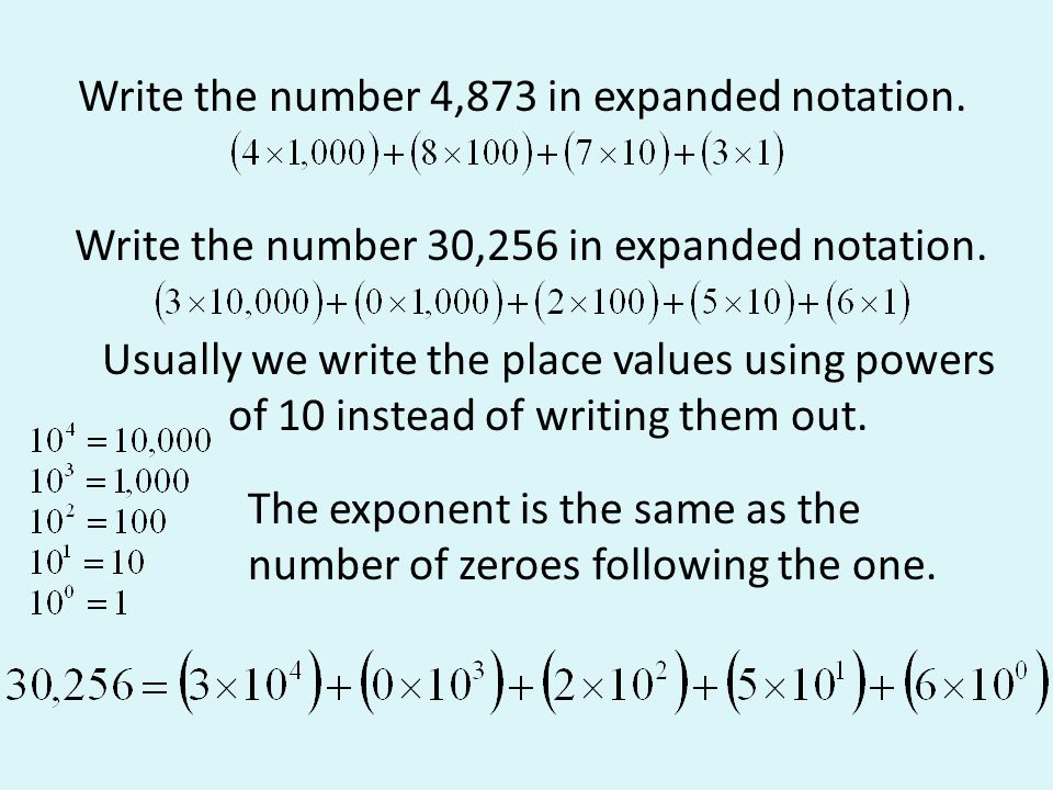 expanded form using powers of 10 with decimals  Hindu-Arabic and Early Positional Systems - ppt download