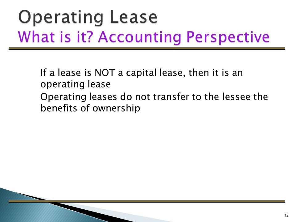 capital lease definition