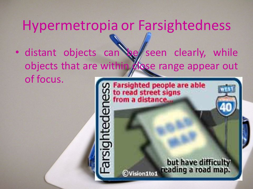 Hypermetropia or Farsightedness