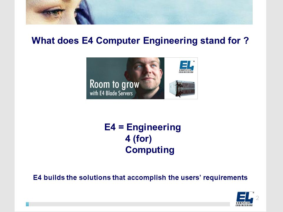 What does E4 Computer Engineering stand for