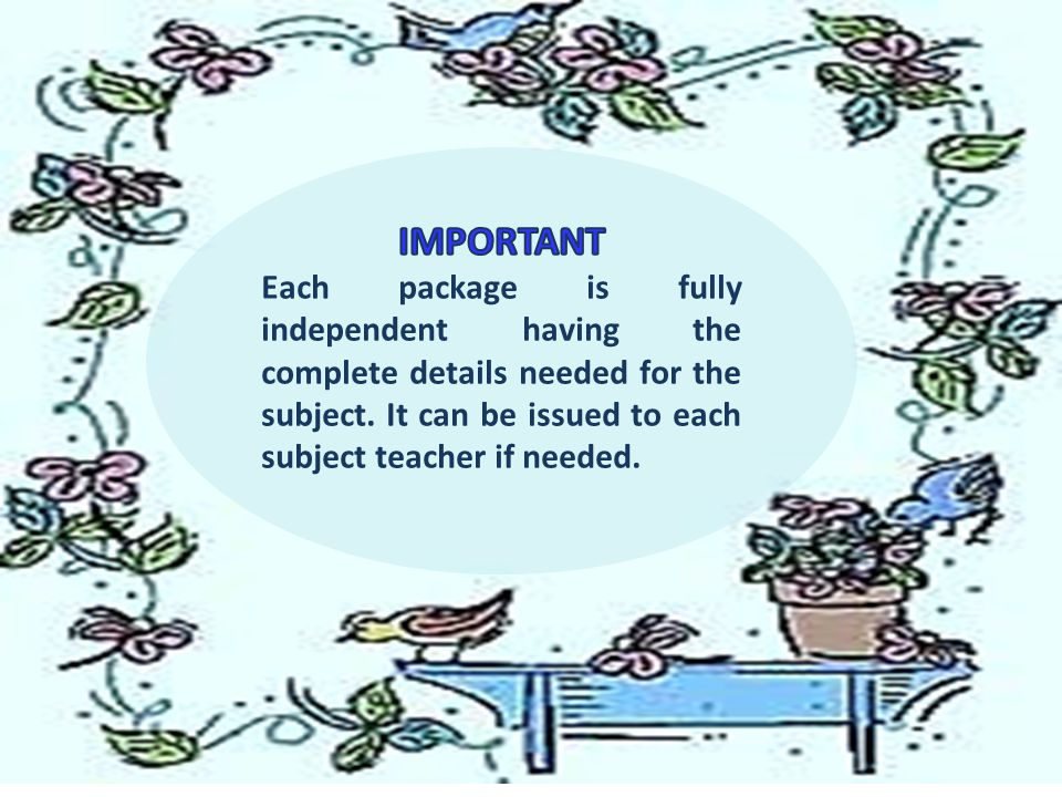 IMPORTANT Each package is fully independent having the complete details needed for the subject.