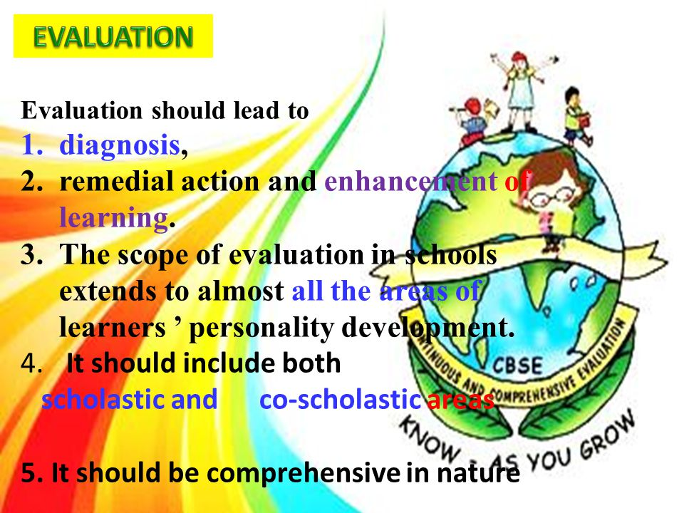 remedial action and enhancement of learning.
