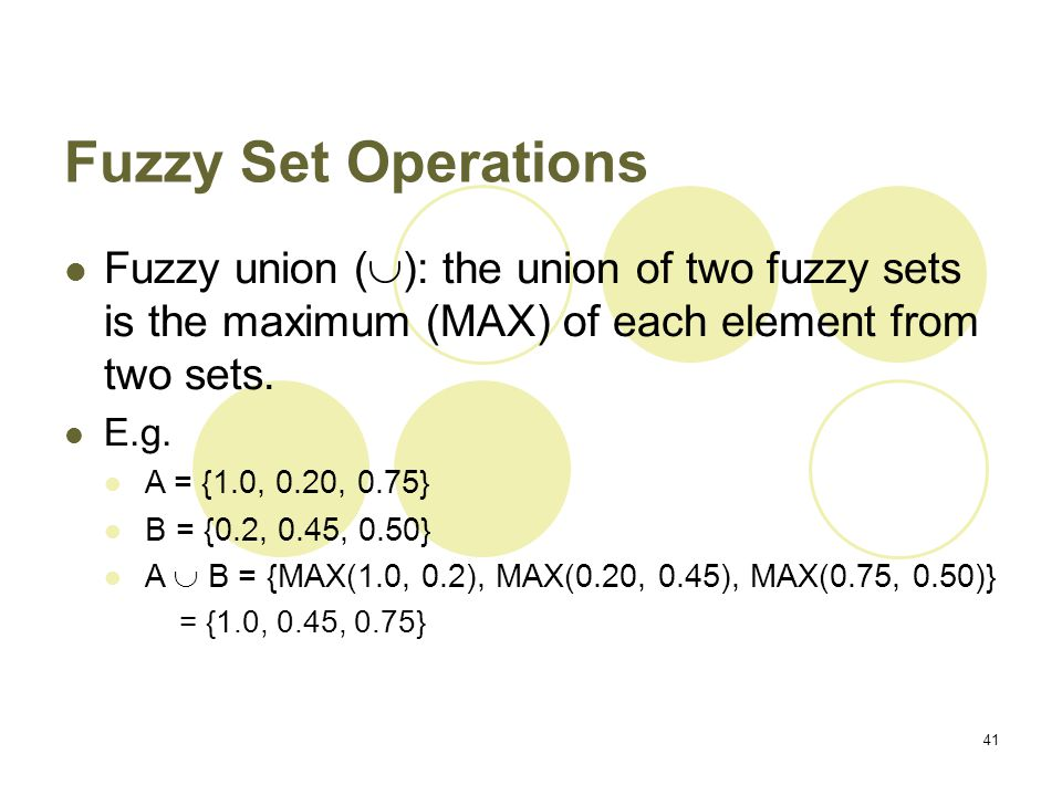Classical sets & fuzzy sets.
