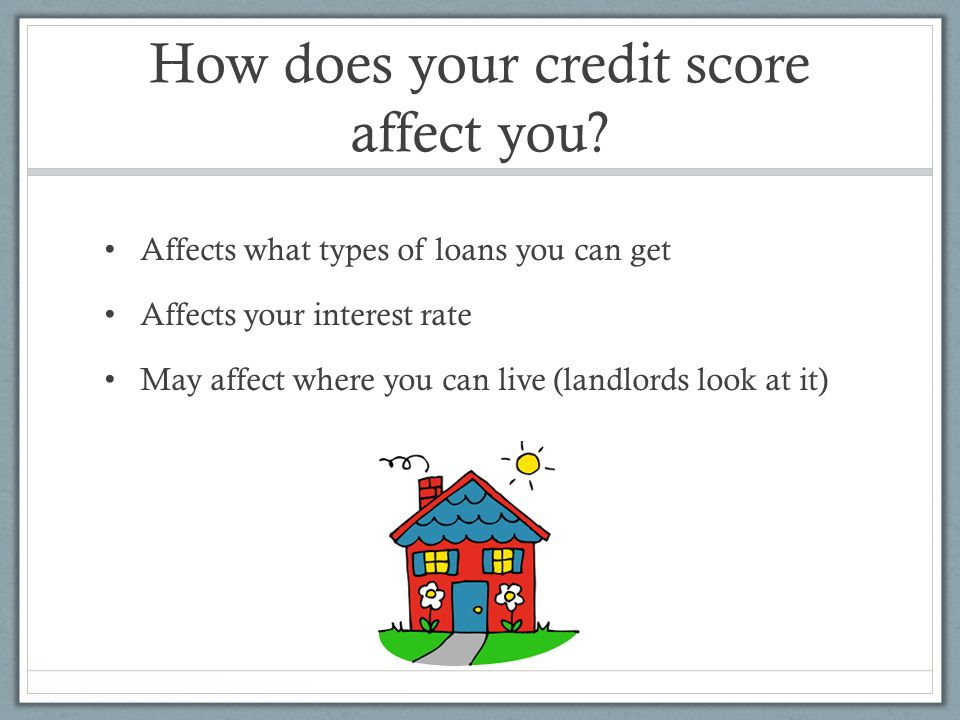 How does your credit score affect you