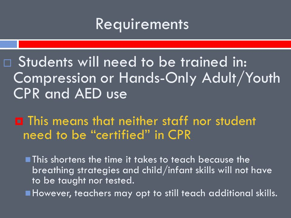 Cpr Implementing The New Cpr Graduation Requirement Ppt Video Online