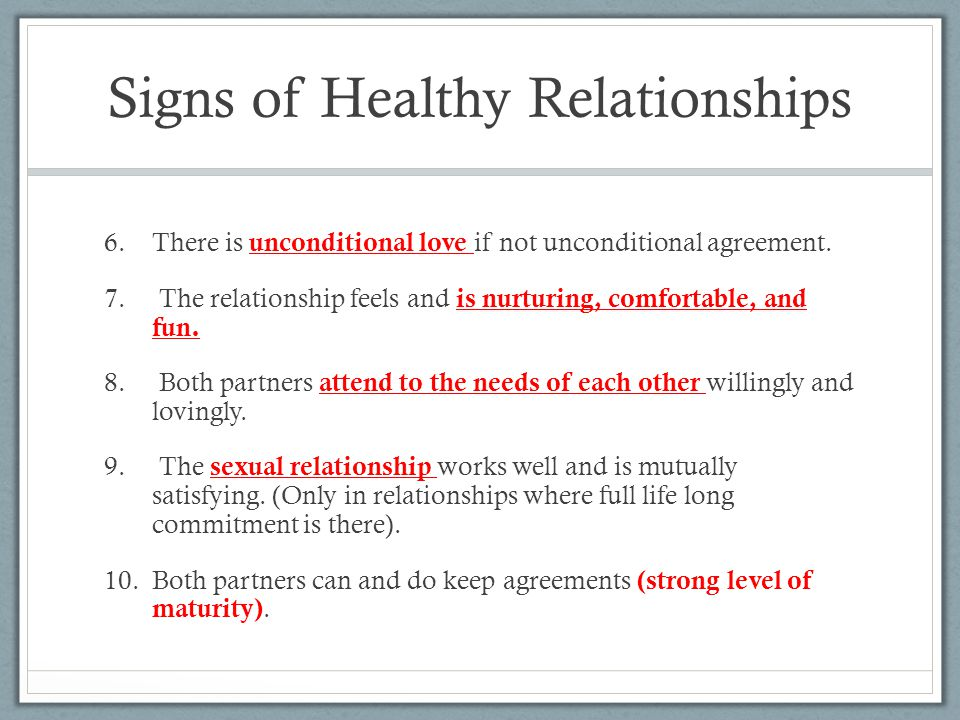 Healthy And Unhealthy Relationships Ppt Video Online Download