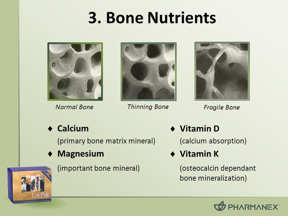 3. Bone Nutrients Calcium Vitamin D Magnesium Vitamin K