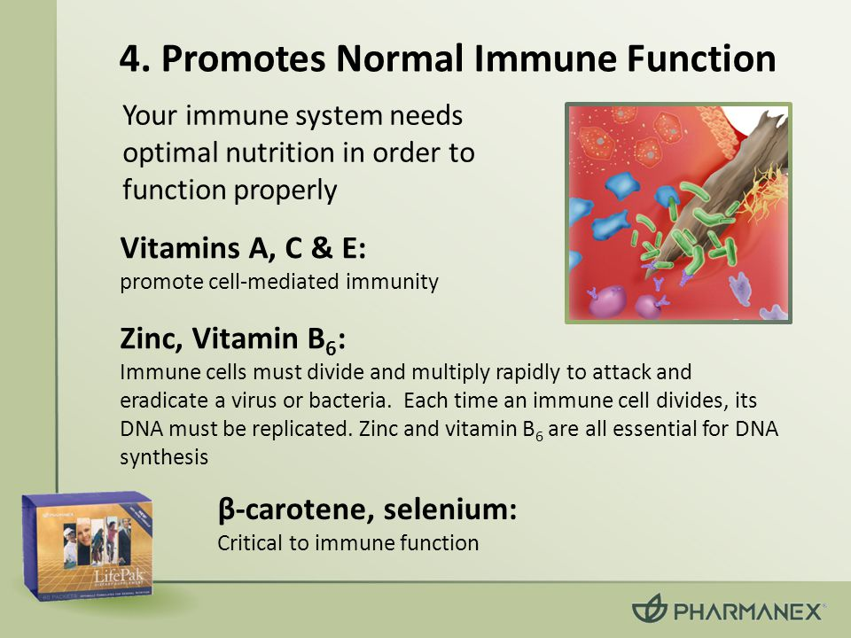 4. Promotes Normal Immune Function