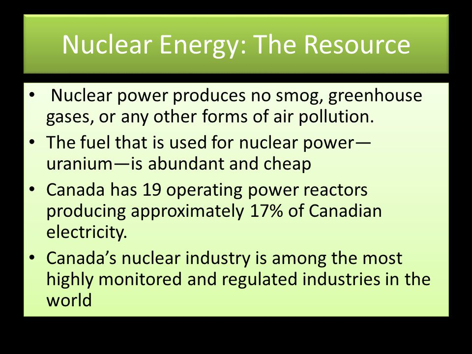Nuclear Energy: The Resource