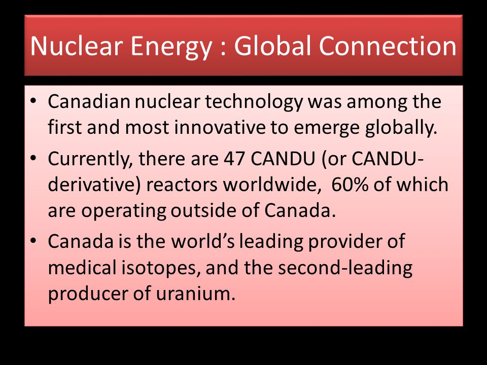 Nuclear Energy : Global Connection