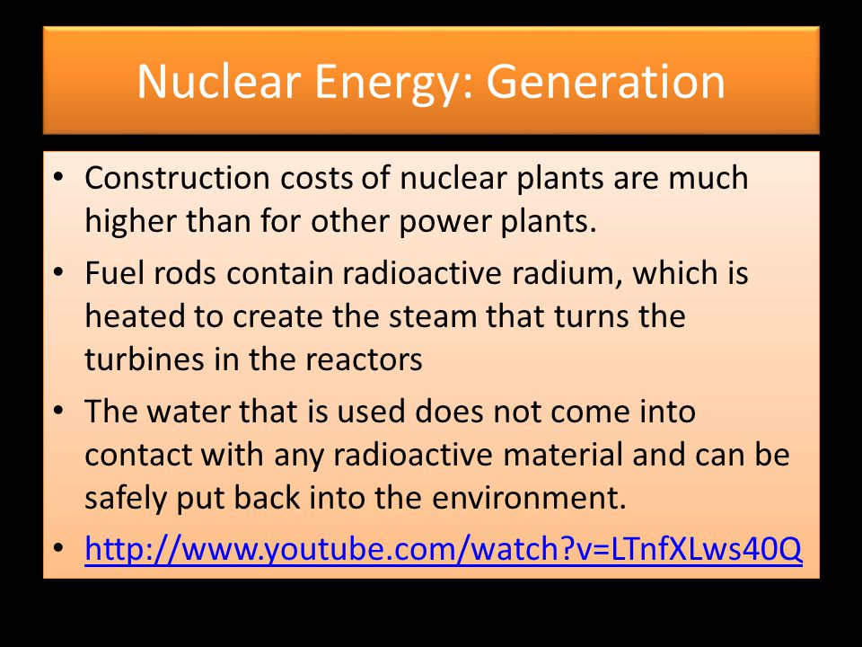 Nuclear Energy: Generation