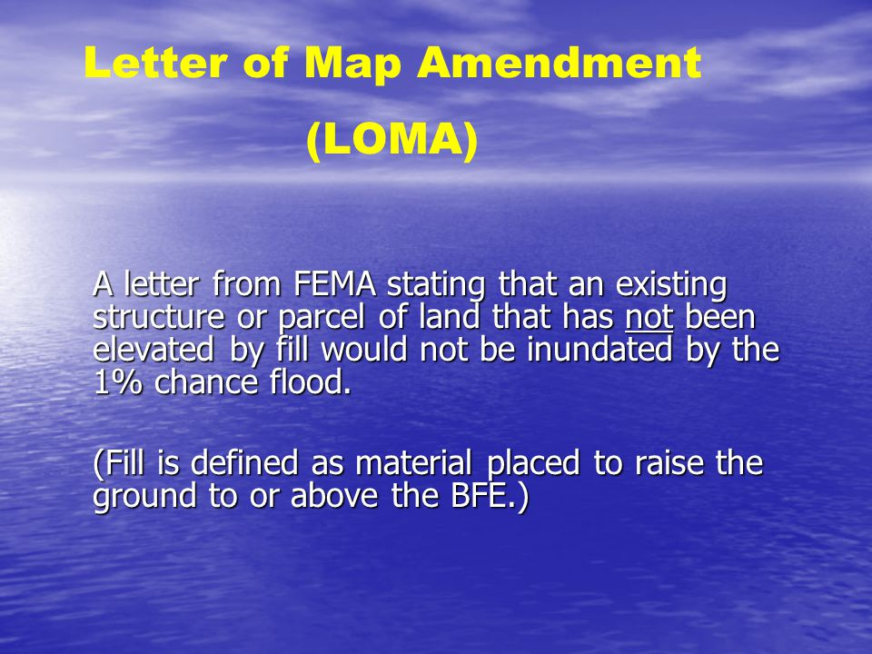 43 letter of map amendment