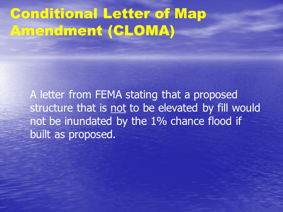 conditional letter of map amendment cloma