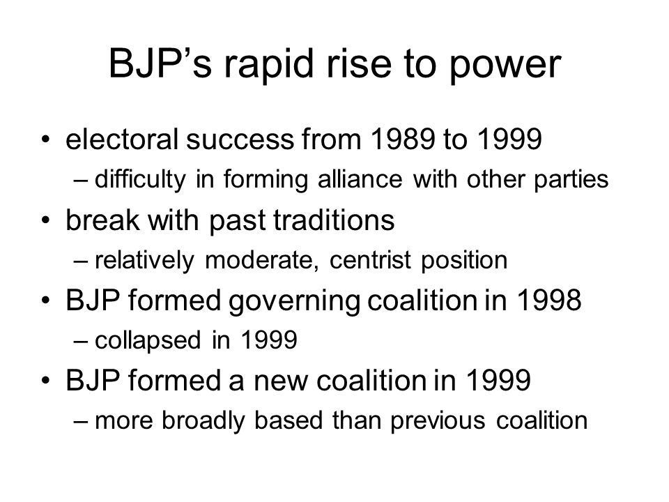 BJP's rapid rise to power