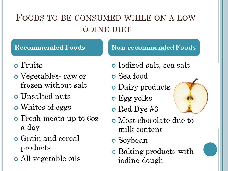 What Foods Have Low Iodine