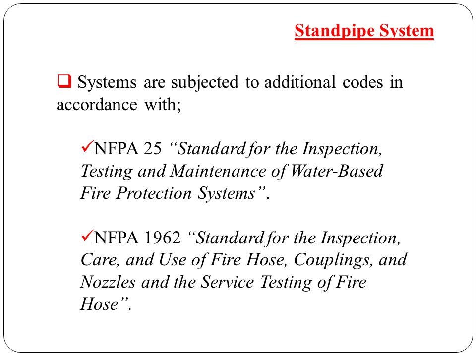 """FIRE STANDPIPE SYSTEMS"""" - ppt video online download"""