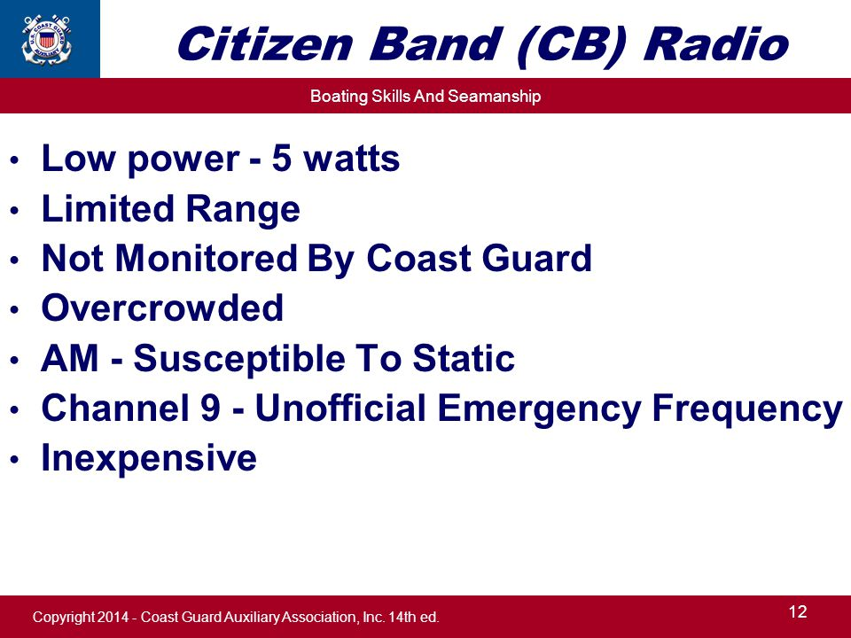 Chapter 13 Your Boat's Radio  - ppt download