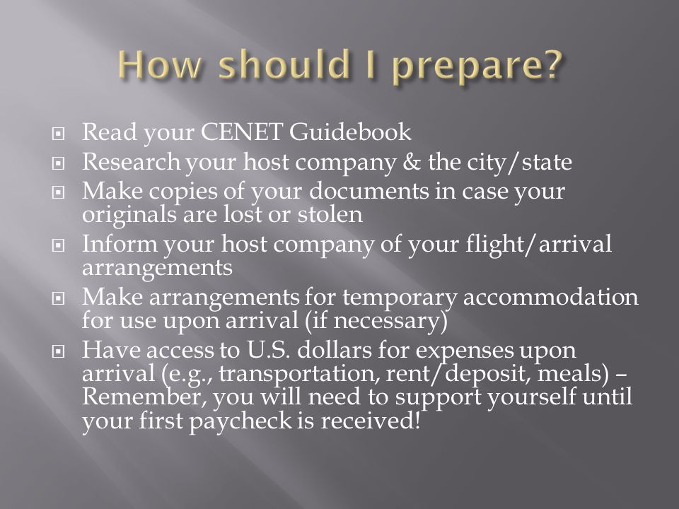 How should I prepare Read your CENET Guidebook