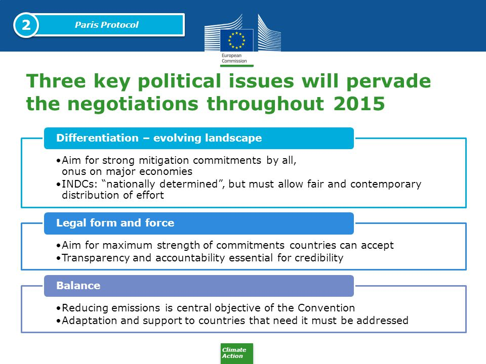 2 Paris Protocol. Three key political issues will pervade the negotiations throughout