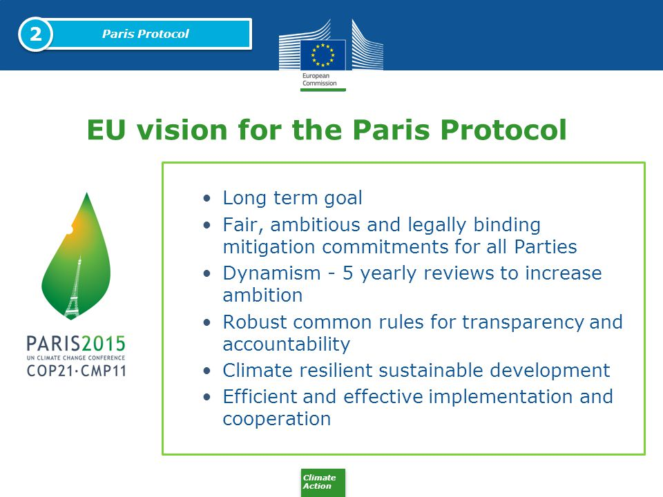 EU vision for the Paris Protocol