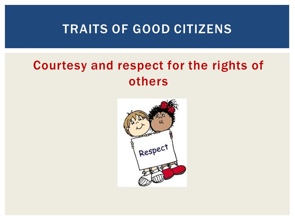 Traits of Good Citizens