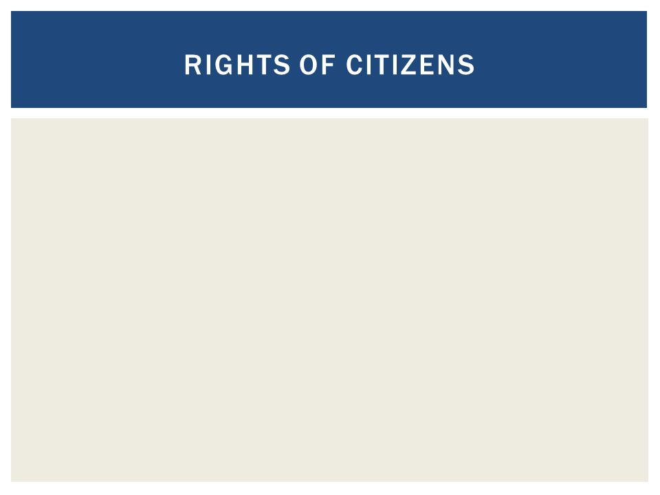 Rights of Citizens