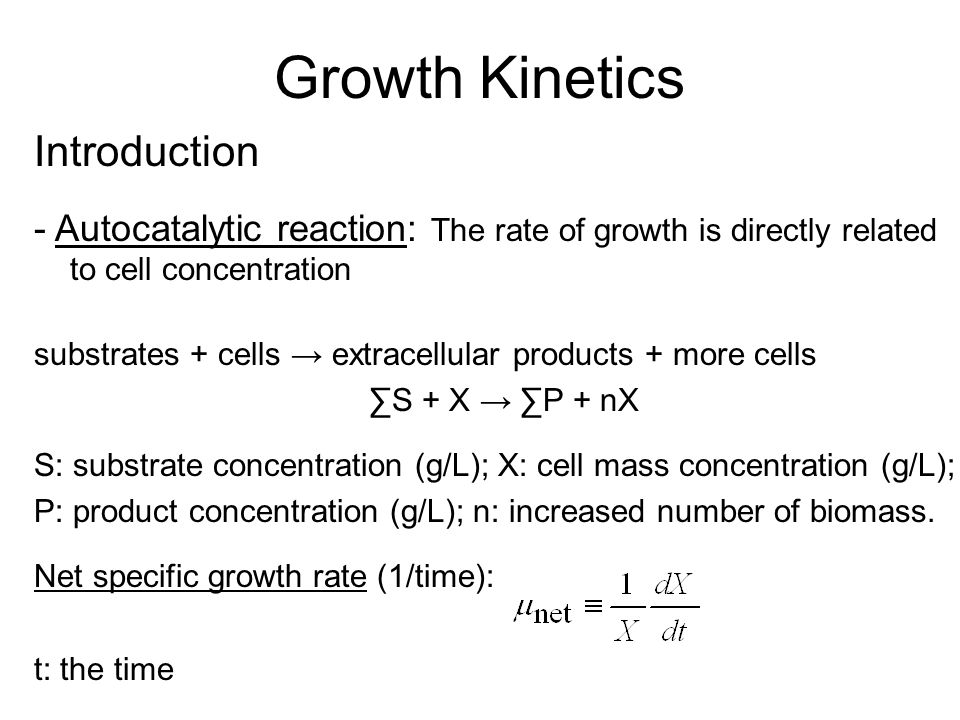 Growth Kinetics Introduction