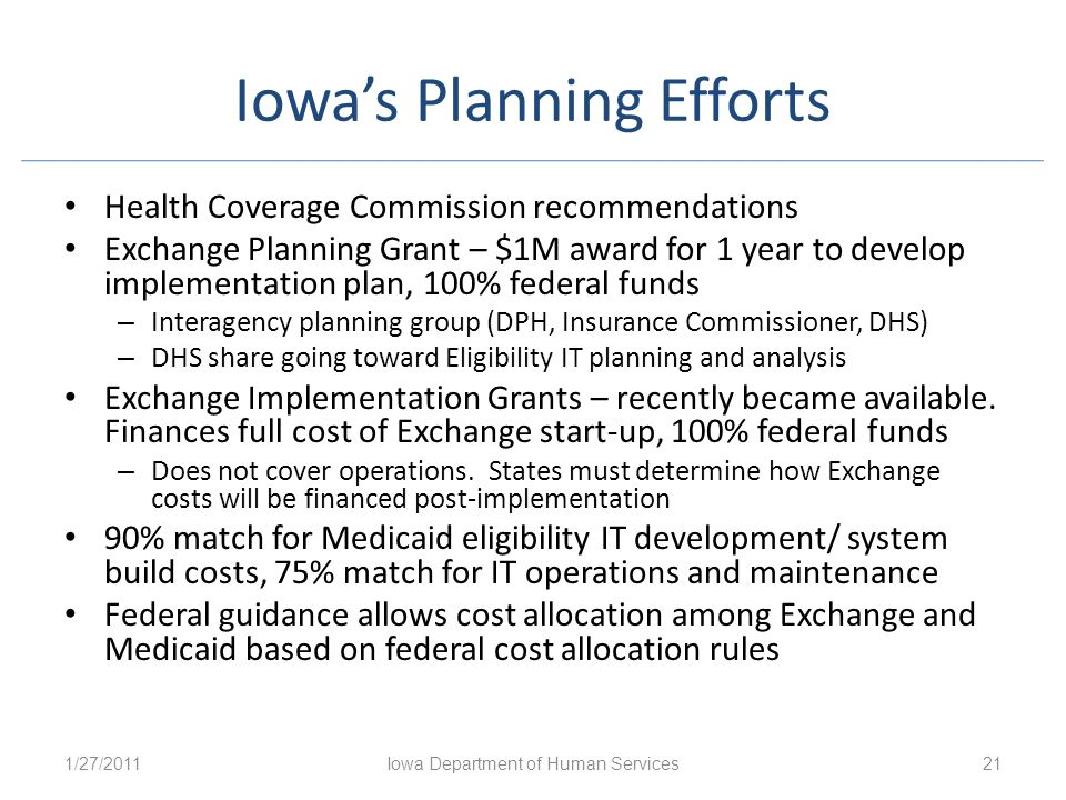 Iowa's Planning Efforts