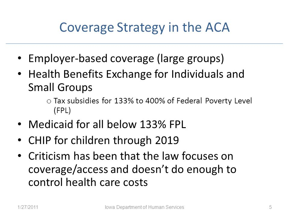 Coverage Strategy in the ACA