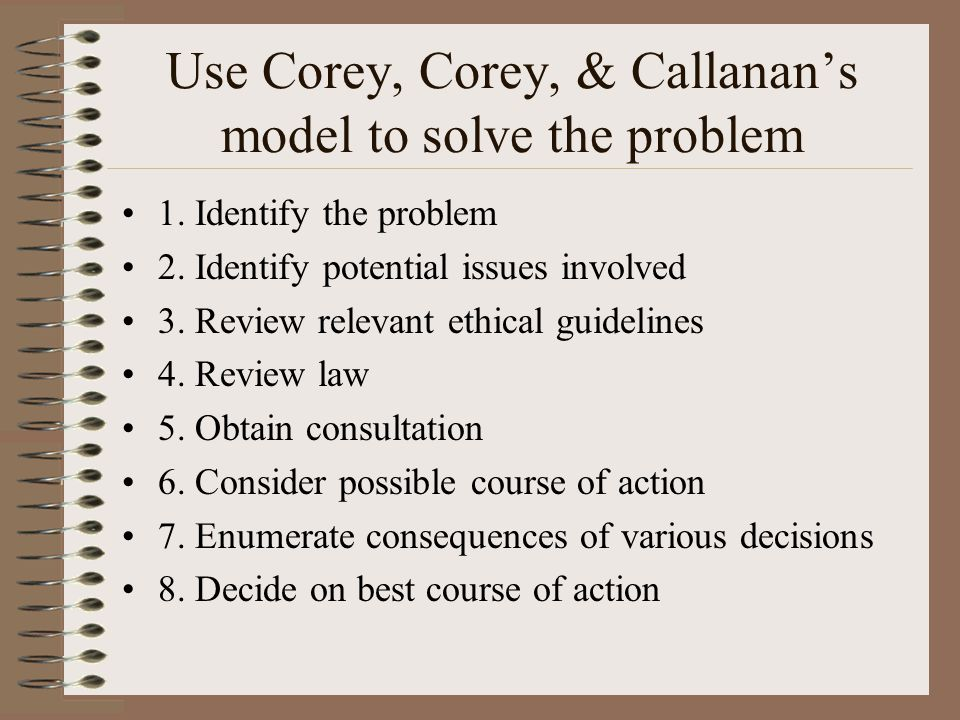 ethical decision making models in counseling